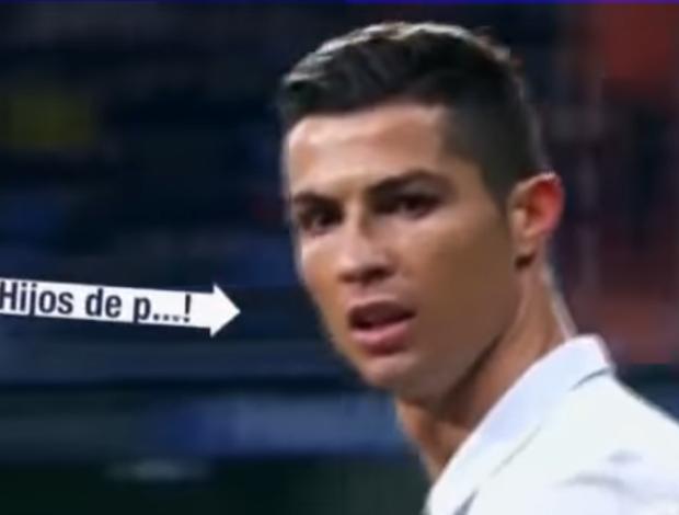 """BLOG: TV flagra Cristiano Ronaldo xingando torcedores do Real: """"Filhos da p***"""""""