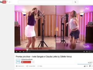 Ivete Sangalo e Claudia Leitte cantam juntas em campanha (Foto: Reprodução/YouTube)