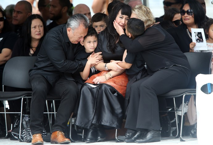 Velório Jonah Lomu rúgbi (Foto: MICHAEL BRADLEY / AFP)