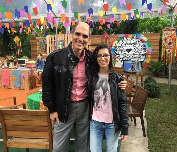 Paulo e Catarina paeticiparam do 'É de Casa' (Foto: Thais Reis/Gshow)