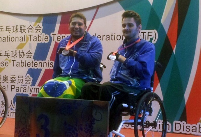 Bruno e Aloisio tênis de mesa mundial paralimpico (Foto: Divulgação / CBTM)