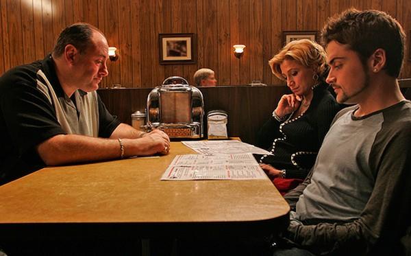 Uma foto da cena final de 'Família Sopranos' (Foto: Reprodução)