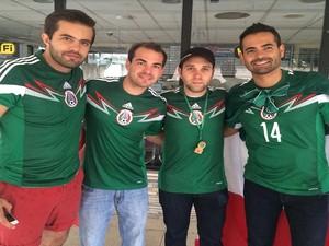 Mexicanos estão animados para a estreia da sua seleção nesta sexta-feira (13) na Arena das Dunas (Foto: Fernanda Zauli/G1)