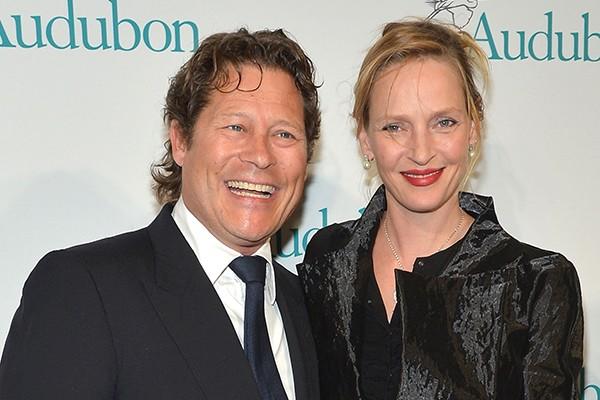 Uma Thurman e Arpad Busson (Foto: Getty Images)