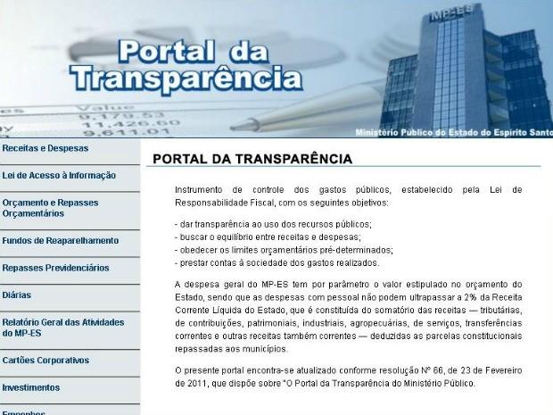 Ministério Público do ES divulga lista nominal com salários de servidores (Foto: Divulgação/Ministério Público)