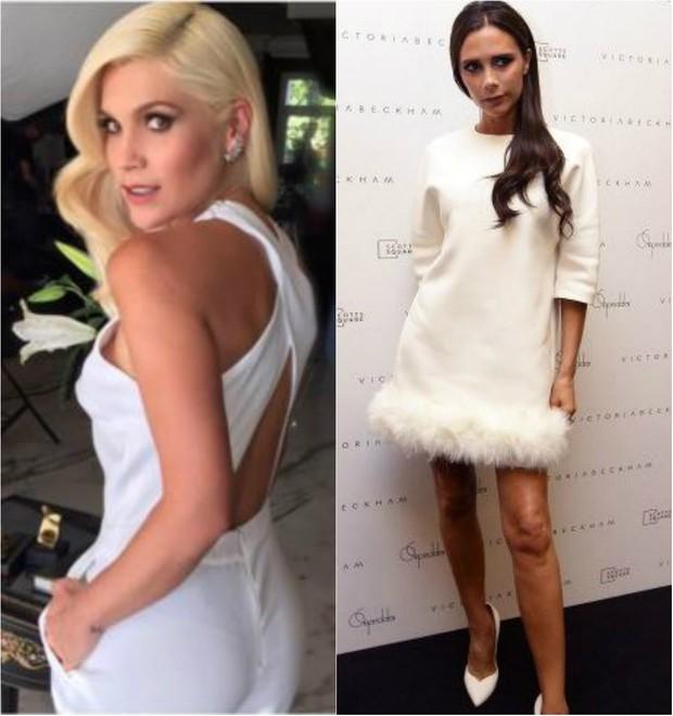 Flávia Alessandra e Victoria Beckham apostam em look todo branco da cabeça aos pés (Foto: Reprodução do Instagram)