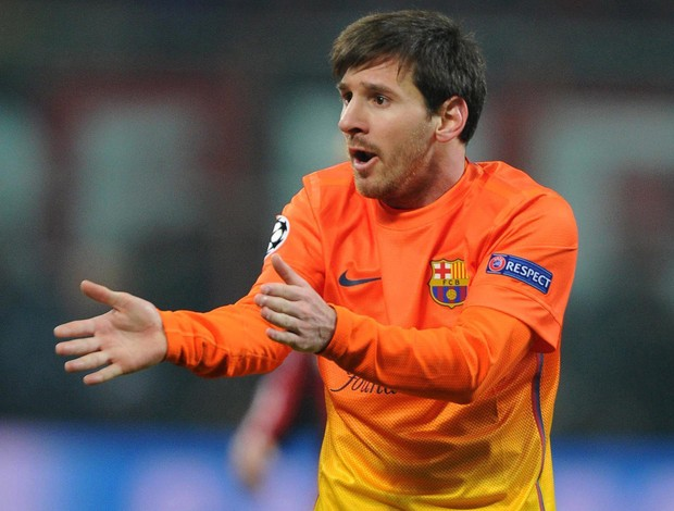 Messi, Milan x Barcelona (Foto: EFE)