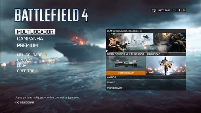 Battlefield 4: como jogar partidas online no modo hardcore, com menos vida e assistências (Foto: Reprodução/Murilo Molina)