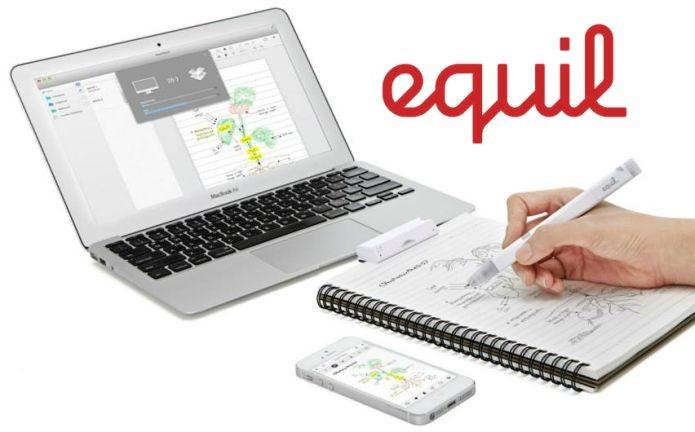 A Equil Smartpen 2 leva desenhos em tinta real para o computador ou smartphone (Foto: Divulgação)