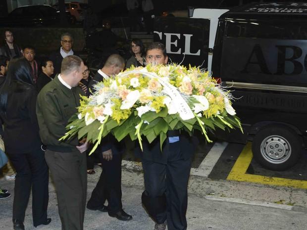 Velório de Antônio Abujamra em São Paulo (Foto: Leo Franco e Francisco Cepeda/ Ag. News)