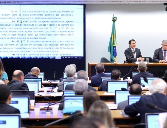 Comissão na Câmara debate pontos da proposta de reforma da Previdência (Foto: Antonio Augusto / Câmara dos Deputados)