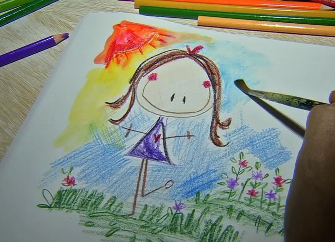 Ilustradora, Carol Jordão, mostrou seu trabalho no Meu MS (Foto: TV Morena)