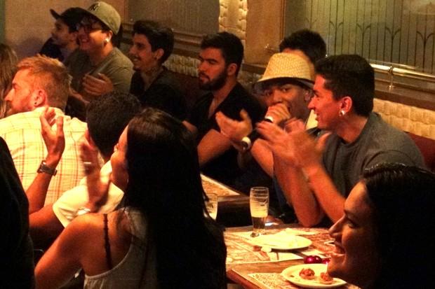 Nego do Borel comemora exibição do seu novo clipe em festa no Rio (Foto: Léo Martinez/EGO)