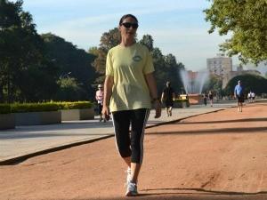 Cristine Gallisa se superou na atividade que já praticava (Foto: Divulgação, RBS TV)