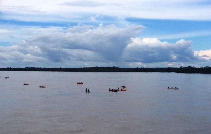 Revezamento ocorreu no Rio Branco, em Boa Vista (Foto: Nailson Wapichana)