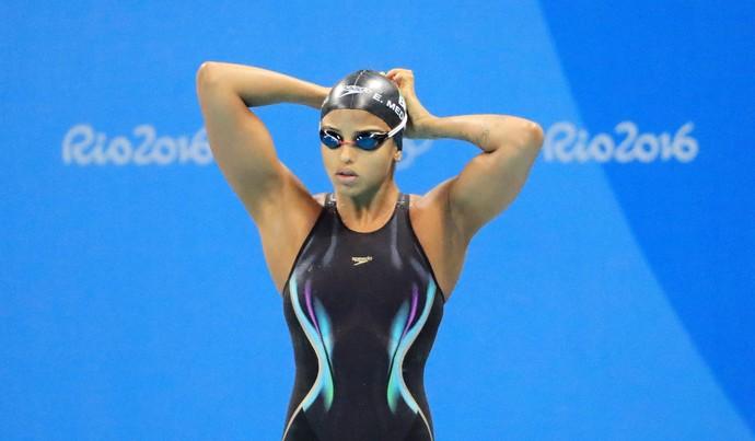 Etiene Medeiros 50m livre natação (Foto: REUTERS/Dominic Ebenbichler)