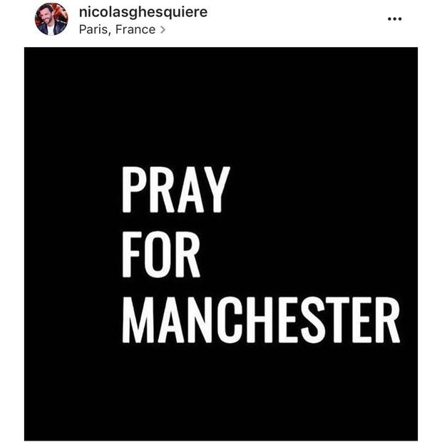 """Nicolas Ghesquiére: """"Meus pensamentos estão com Manchester"""" (Foto: Instagram/Reprodução)"""