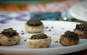 Aperitivo de cogumelo com pesto: receita da Bela Gil