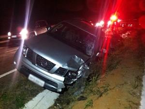 Motorista permaneceu no local e prestou esclarecimentos (Foto: Danilo César/ TV Asa Branca)