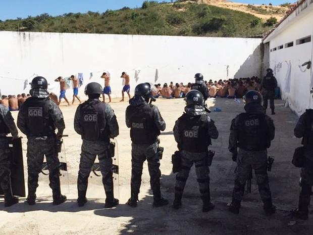 Sistema prisional potiguar possui atualmente mais de 8 mil detentos (Foto: Anderson Barbosa/G1)