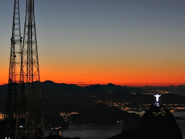 Amanhecer no Rio quinta-feira 5 de julho (Foto: Marcos Texeira Estrella/ TV Globo)