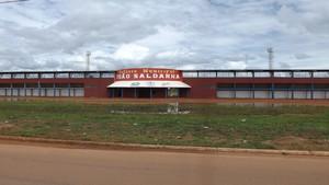Frente do estádio João Saldanha, em Guajará-Mirim (Foto: Dayanne Saldanha)