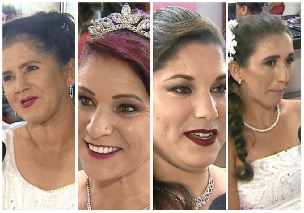 Mãe e as três filhas sobem ao altar juntas em São Carlos (Foto: Reginaldo dos Santos/EPTV)