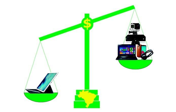 iPad Pro tem preço maior que kits com computadores, tablets e smartphones (Foto: Arte/Elson de Souza)