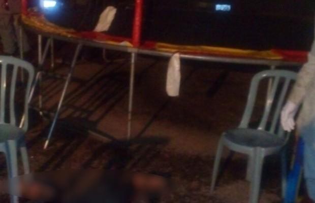 Dois homens são mortos em feira após briga de trânsito em Goiás (Foto: Divulgação/PM)