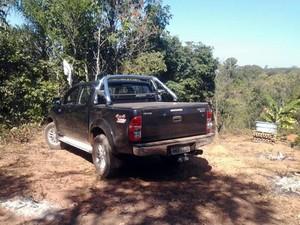 caminhonete São Gonçalo do Pará Divinópolis MG roubo (Foto: Polícia Militar/Divulgação)