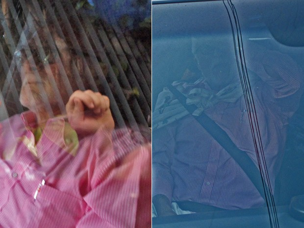 José Genoíno se entrega após ter prisão decretada pelo STF (Foto: Rodrigo Mora/G1; Tahiane Stochero/G1)