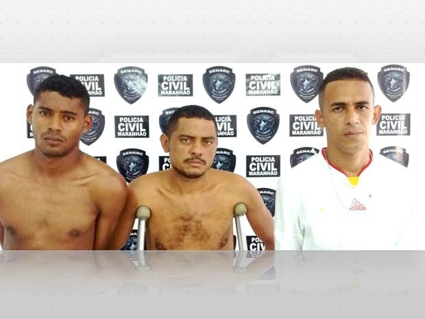 Três suspeitos por tráfico foram presos pela Polícia Civil (Foto: Divulgação/Senarc-MA)