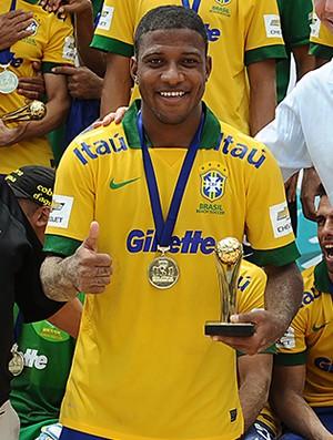 Bokinha foi eleito o melhor jogador e artilheiro da Copa América, com seis gols (Foto: Armando Artoni)