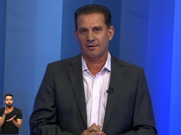 Vanderlan debate TV Anhanguera Goiás (Foto: Reprodução/TV Anhanguera)
