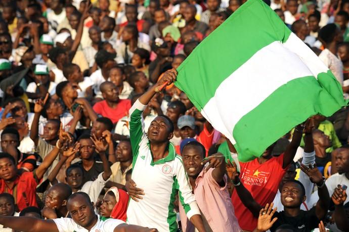 estádio superlotado Nigéria x Egito (Foto: Pius Utomi Ekpei / AFP)