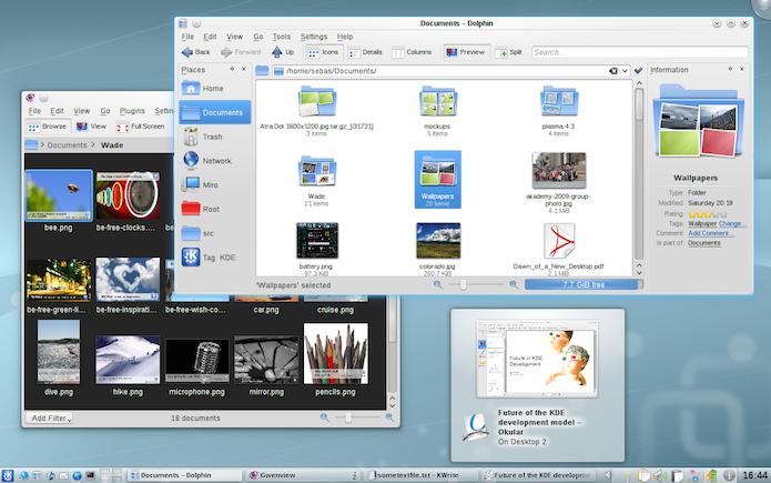 Polido em vários aspectos, KDE é umas das opções com design mais agradável  (Foto: Divulgação/KDE)
