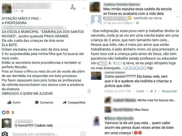 Ameaças foram feitas pelas redes sociais (Foto: Reprodução/Facebook)
