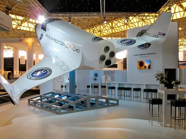 Nave Lynx levará passageiros para viagem espacial (Foto: Divulgação/Festuris)