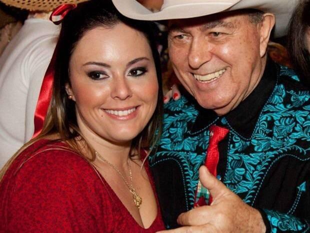 Joana com o pai: segundo ela, Milionário deverá repensar a carreira (Foto: Arquivo Pessoal)