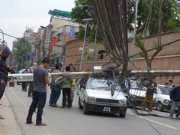 Amália Lucy terremoto Nepal 1.jpg (Foto: Amália Lucy Querino/Arquivo Pessoal)
