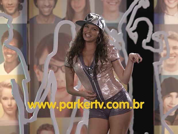 Luene Michelle, no palco do reality Geração Nem-Nem (Foto: Parker TV)