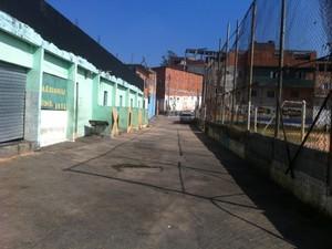 Local do crime, segundo a polícia (Foto: Tatiana Santiago/G1)