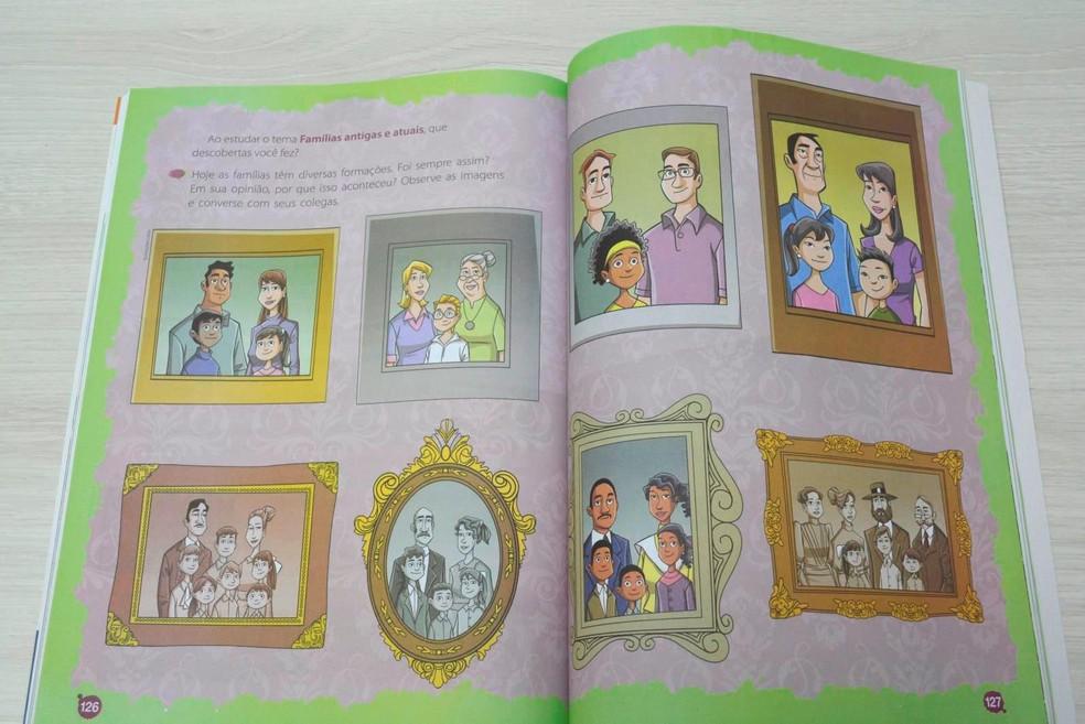 Livro mostra composição por diferenters famílias (Foto: Rede Amazônica/ Reprodução)