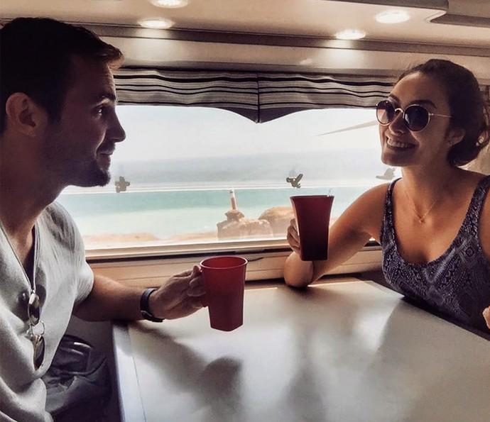 Amanda Richter cuida do cardápio do casal durante a viagem (Foto: Arquivo pessoal)