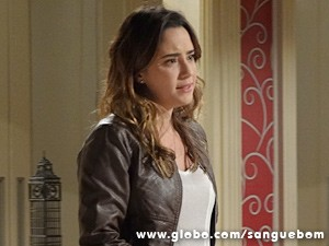 Malu chora em briga com irmã (Foto: Sangue Bom/TV Globo)