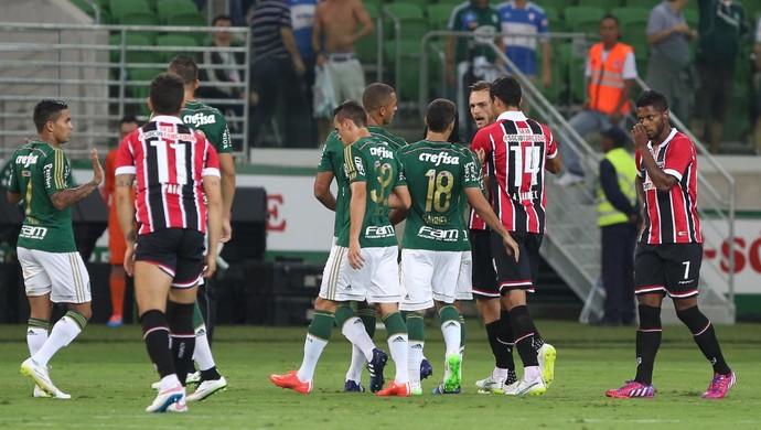 Rafael Toloi Dudu Palmeiras x São Paulo (Foto: Rubens Chiri/saopaulofc.net)
