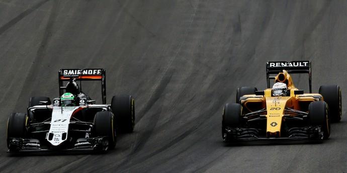 Nico Hulkenberg e Kevin Magnussen no GP da Áustria deste ano (Foto: Getty Images)