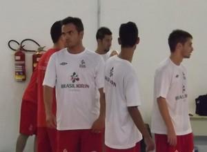 Falcão treina com o Sorocaba Futsal, na tarde desta segunda-feira (Foto: Pedro Craveiro)