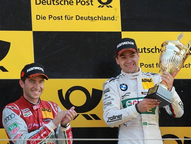 Mike Rockenfeller e Augusto Farfus no pódio do DTM em Zandvoort, Holanda (Foto: Divulgação)