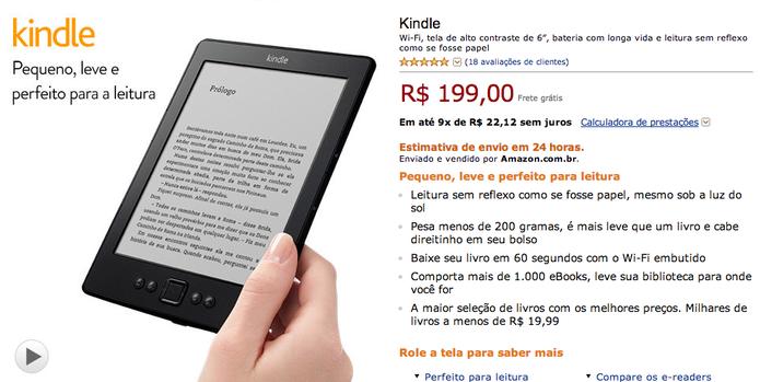 Amazon coloca Kindle em desconto para o dia das mães (Foto: Reprodução/Amazon)